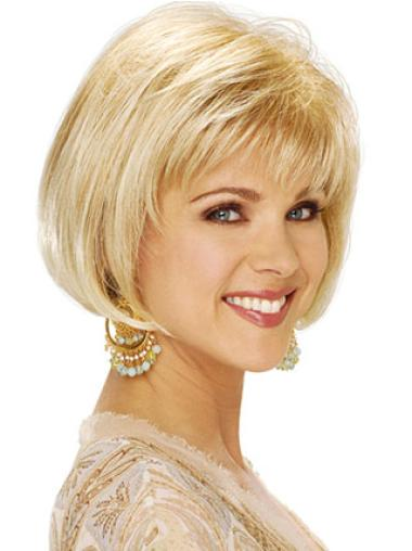 Blonde Short Straight Capless Classic Bob Wigs For Sale