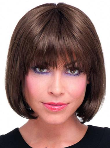 """Style 8"""" Straight Chin Length Lace Front Wigs Human Hair Bob"""