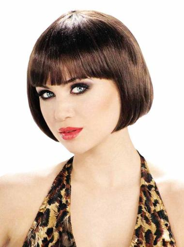 Short Straight Bobs Brown Capless The Perfect Bob Wig