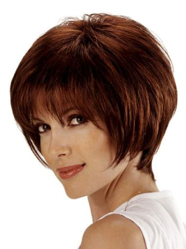 Auburn Chin Length Straight Lace Front Cheapest Human Hair Wigs