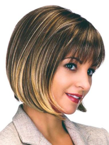 Fabulous Capless Brown Bob Wigs For African American