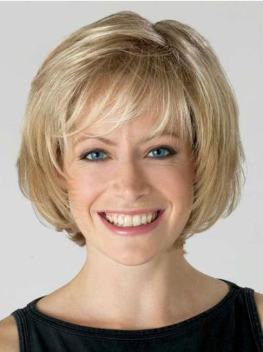 Blonde Bobs Short Synthetic Great Lace Wigs With Natural Hairline