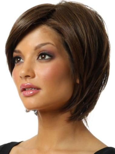 Synthetic Incredible Brown Straight Sexy Bob Wig