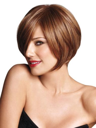 Discount Short Brown Straight Sexy Bob Wigs
