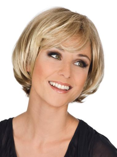 Chin Synthetic Natural Best Monofilament Blonde Wig