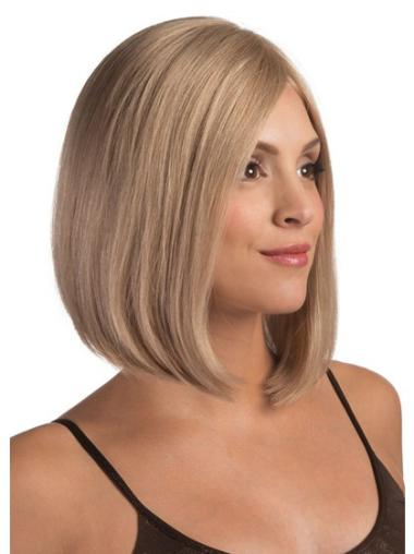Chin Length Bobs Straight Popular Lace Front Blonde Human Hair Wigs