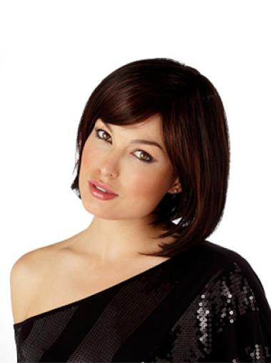 Synthetic Auburn Chin Length Online Women'S Bob Style Wigs