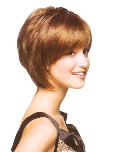 Auburn Straight Chin Length Stylish Wigs Bob Haircut