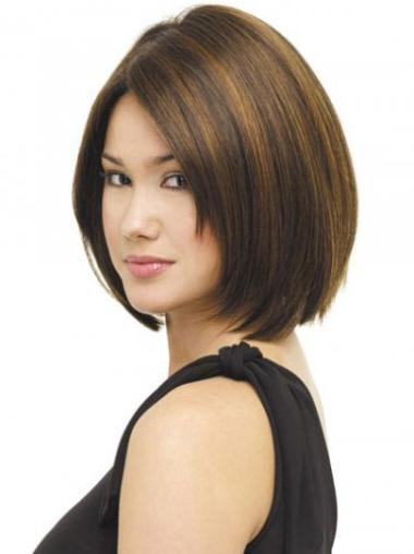Brown Straight Chin Length Ideal Wig Bob Styles