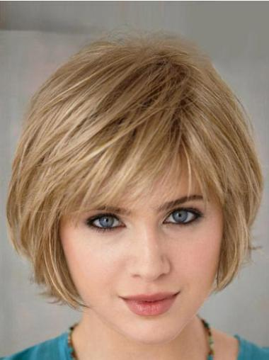 Blonde 10 Inches Capless Fashionable Short Straight Bob Wigs