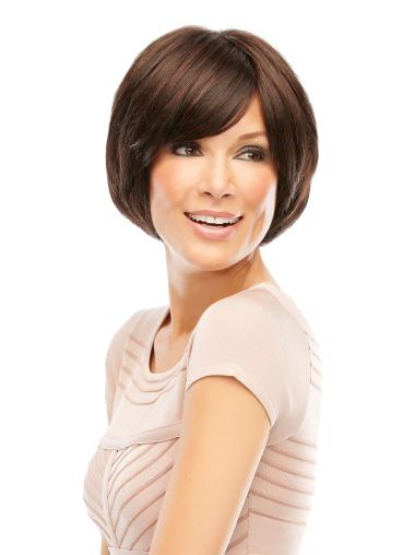 Cheapest Lace Front Bobs Straight Brown Best Synthetic Wigs