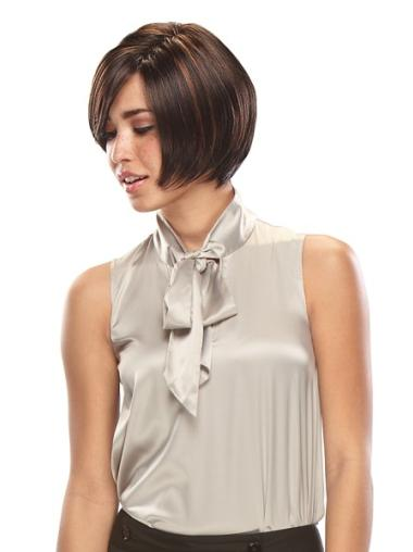 Discount Bobs Straight Brown Lace Front Synthetic Wig