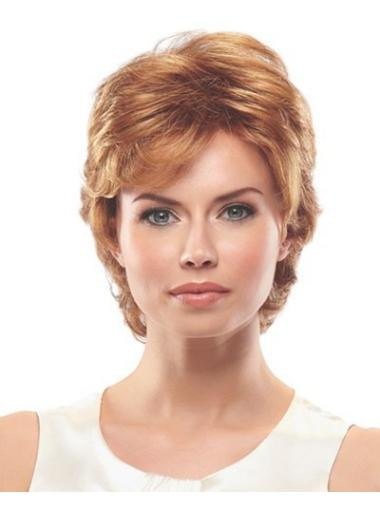 Style Short Layered Capless Wigs For The Elderly