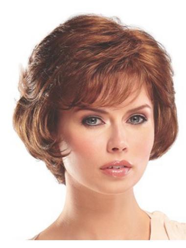 Cheapest Auburn Wavy Classic Short Capless Synthetic Wigs