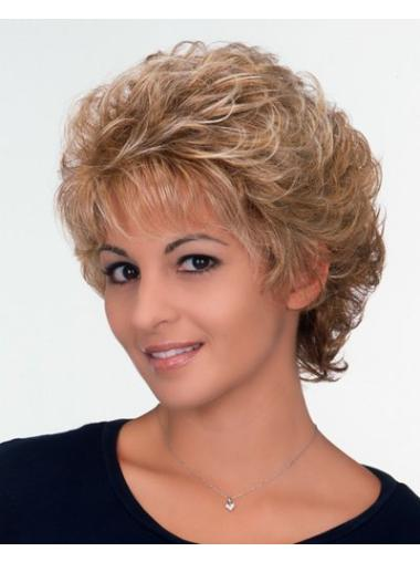 Capless 6 Inches Incredible Classic Short Curly Blonde Wigs