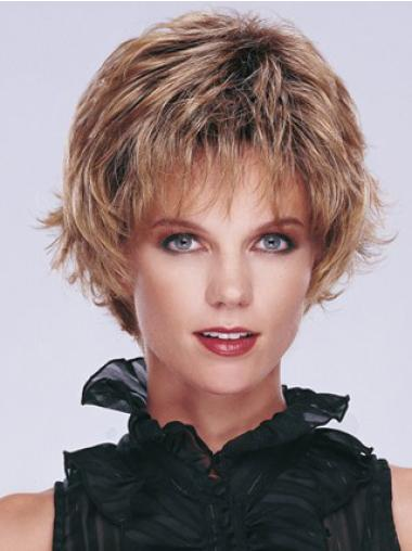 Wavy Capless Layered Short Wavy Wigs