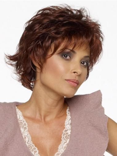 Wavy Capless Layered Short Wavy Wig