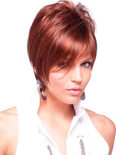 Straight Capless Boycuts Remy Human Hair Short Wigs