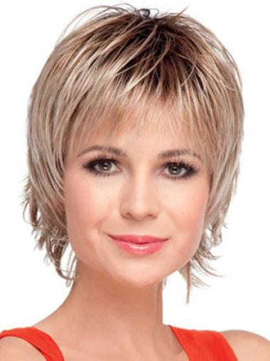 Straight Capless Boycuts Short Straight Cut Wig