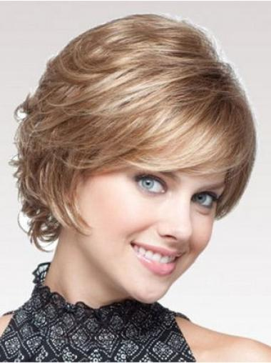 Short Blonde Wavy Classic Synthetic Wig Styles For Women