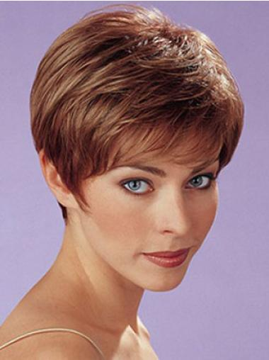 Hairstyles Auburn Boycuts Straight Short Hair Wigs