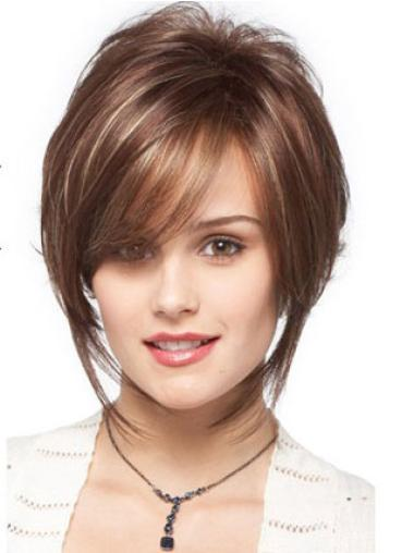 New Brown Bobs Natural Wavy Short Wigs