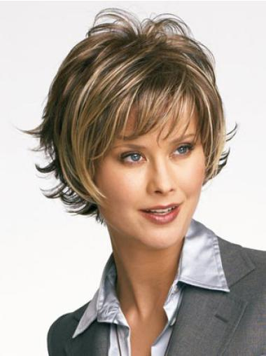 Exquisite Brown Layered Styles For Short Wavy Hair