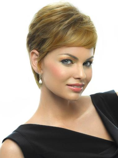 Perfect Blonde Straight Boycuts Top Wigs Online Short Straight