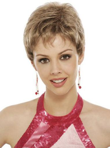 Synthetic Wavy Boycuts Short Lace Front Wig