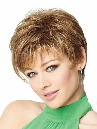 Straight Style Short Synthetic Blonde Wigs