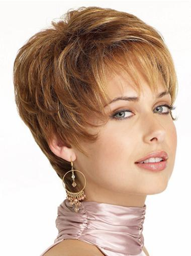 Synthetic Wavy Boycuts Short Pixie Cut Lace Front Wig