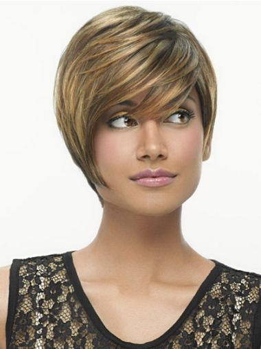 Incredible Straight Bobs Short Brown Wigs