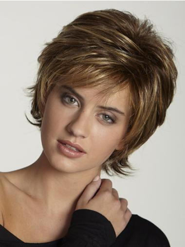 Suitable Brown Layered Wig For Short Straight Hair