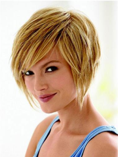 Synthetic Straight Short Blonde Wig