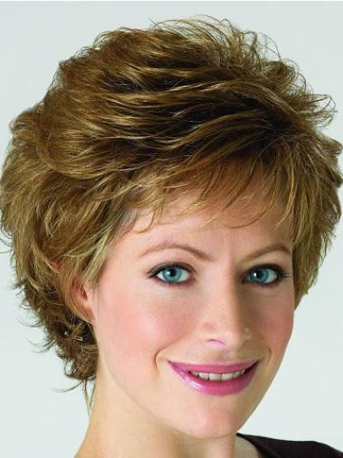 Blonde Short Classic Curly Lace Front Wigs Synthetic