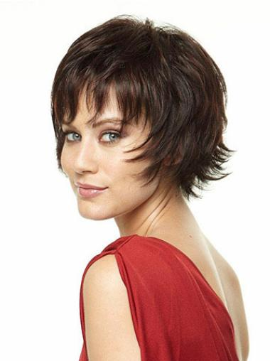 Synthetic Straight Brown Short Wigs