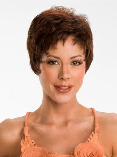 Synthetic Straight Top Wigs Online Short Straight Auburn