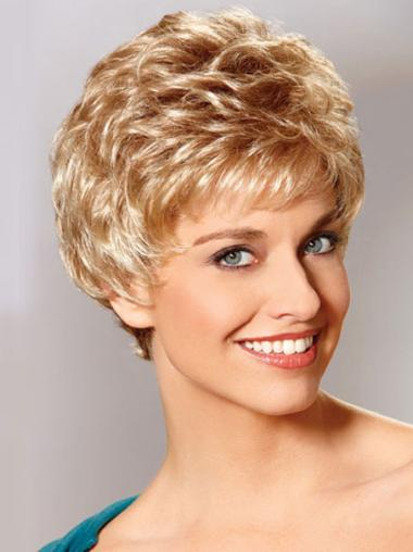 Cropped Perfect Auburn Classic Synthetic Wavy Wigs