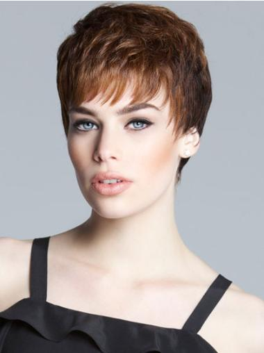 Monofilament Boycuts Cropped 5 Inches Fashionable Short Synthetic Wig