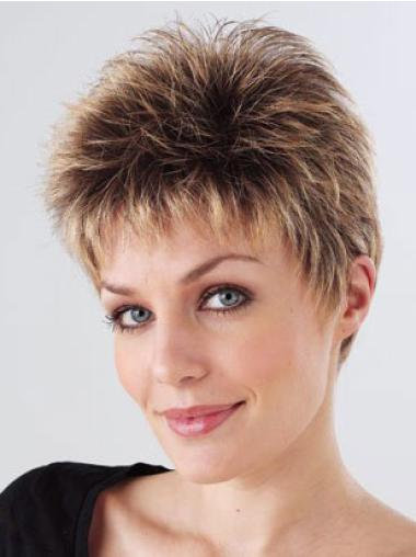 Straight Synthetic Convenient Monofilament Wigs Petite
