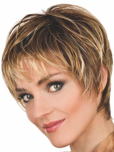 Cropped Synthetic 8 Inches Short Brown Wig Female