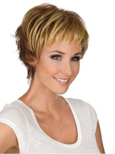 Amazing Synthetic Wavy Monofilament Short Wigs For Women