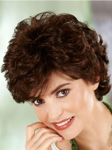 8 Inches Curly Auburn Beautiful Classic High Quality Synthetic Wigs For Sale
