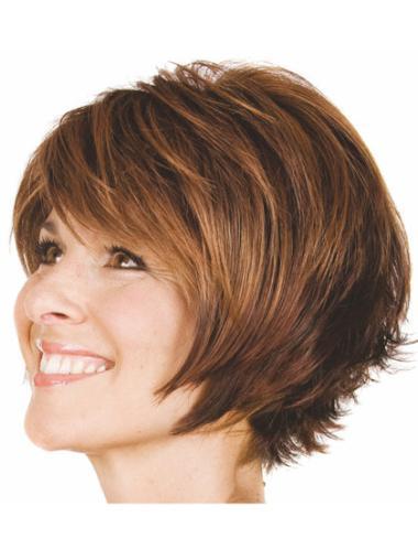 Designed Chin Length Bobs Medium Wavy Wig