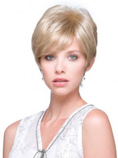 Monofilament Blonde Style Wigs Short Wigs For Cancer Patients