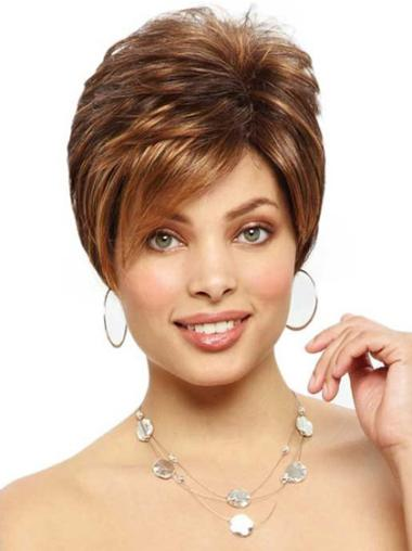 Monofilament Boycuts Cropped 6 Inches Top Short Wigs