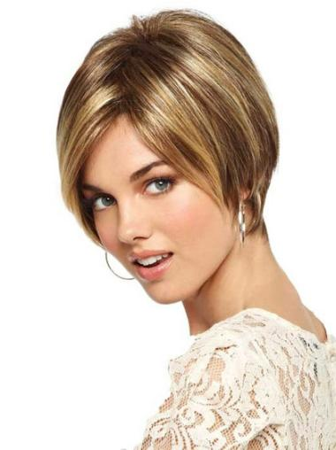 Short 6 Inches Blonde Bob Synthetic Monofilament Wigs