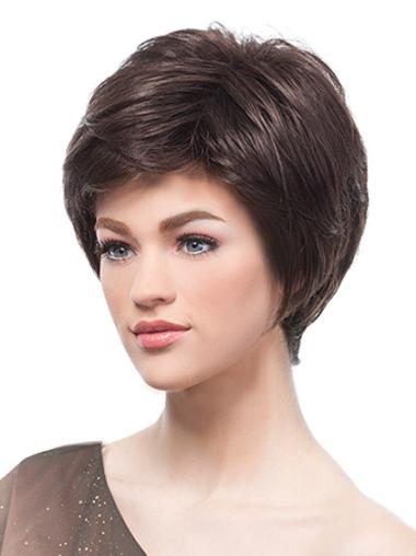 Monofilament Boycuts Short 6 Inches Durable Short Wigs