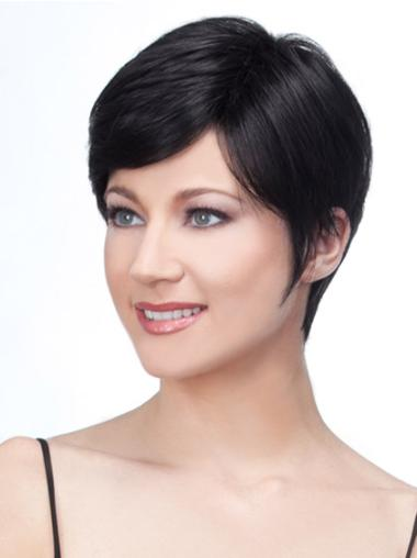 High Quality Lace Front Boycuts Straight Deep Discount Remy Human Hair Wigs