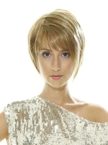 Straight 8 Inches Perfect Bob Short Lace Front Wigs